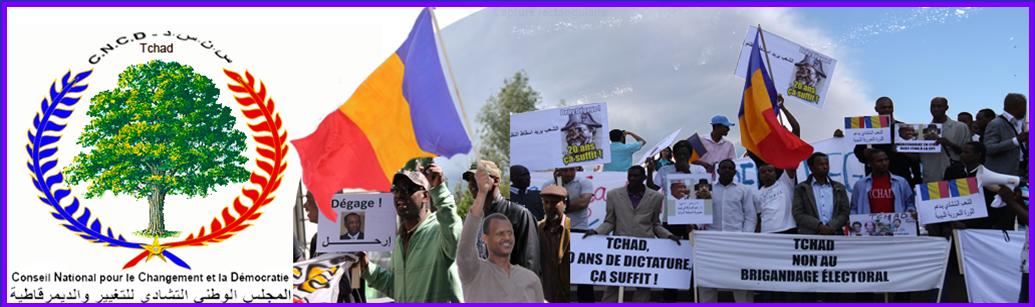 Site du CNCD (Conseil National pour le Changement et la Démocratie au Tchad)  CNCD : plate-forme pluraliste regroupant des militants de la Société civile, des partis politiques et des mouvements tchadiens