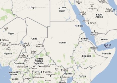 Carte-Tchad-Soudan