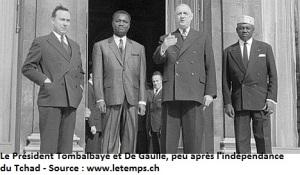 TCHAD-INDEPENDANCE-TOMBALBAYE-DE GAULLE