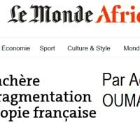 """""""Tchad: surenchère militariste, fragmentation sociale et myopie française"""" (site du journal Le Monde)"""