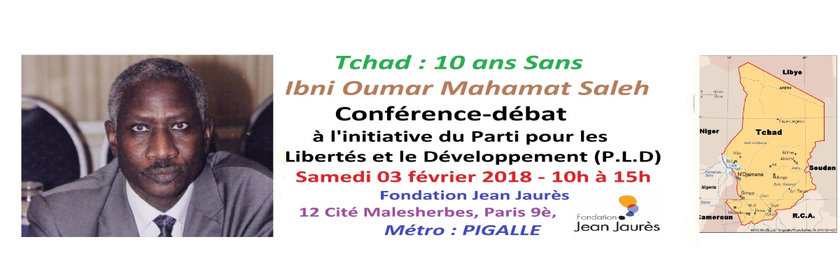 Annonce: TCHAD, PLD, 10è Anniversaire assassinat IBNI OUMAR , samedi 03/02/18